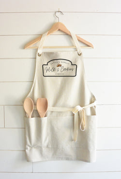 Santa's Finest Milk & Cookies Apron - Porter Lane Home
