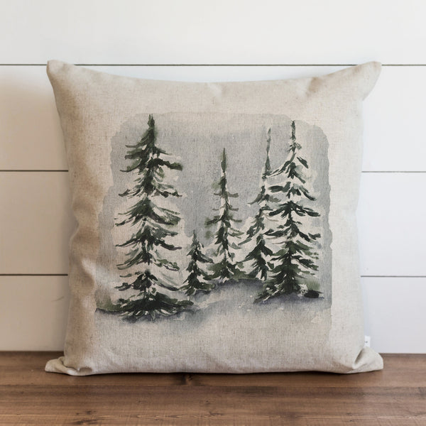Snowy Trees Pillow Cover. - Porter Lane Home