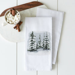 Snowy Trees Tea Towel