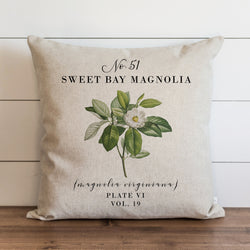 Botanical Sweet Bay Magnolia Pillow Cover. - Porter Lane Home