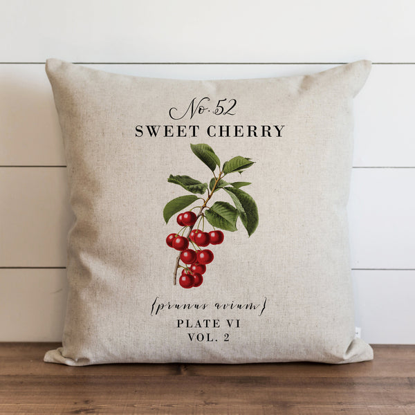 Botanical Sweet Cherry Pillow Cover. - Porter Lane Home