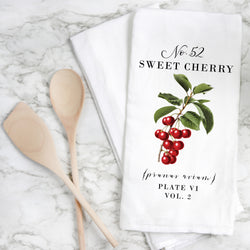 Botanical Sweet Cherry Tea Towel