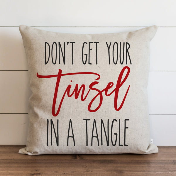 Tinsel In A Tangle Pillow Cover. - Porter Lane Home