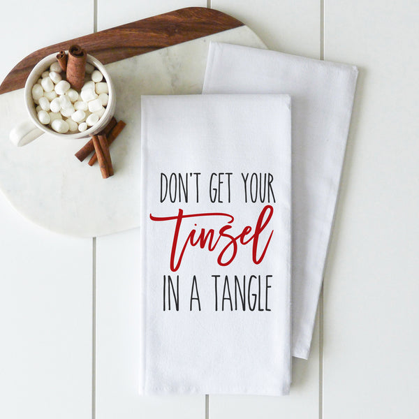 Tinsel in a Tangle Tea Towel