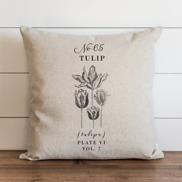 Botanical Tulip Pillow Cover. - Porter Lane Home
