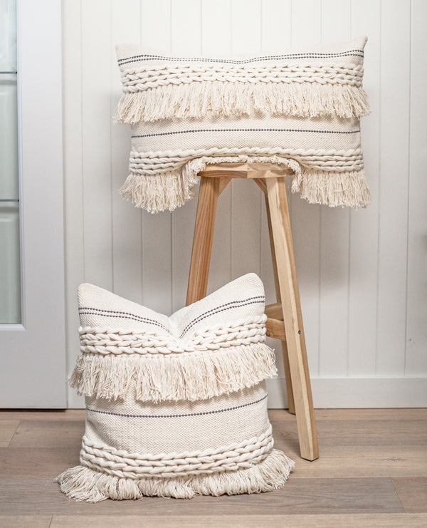 Boho Braided Fringe Pillow Cover - Porter Lane Home