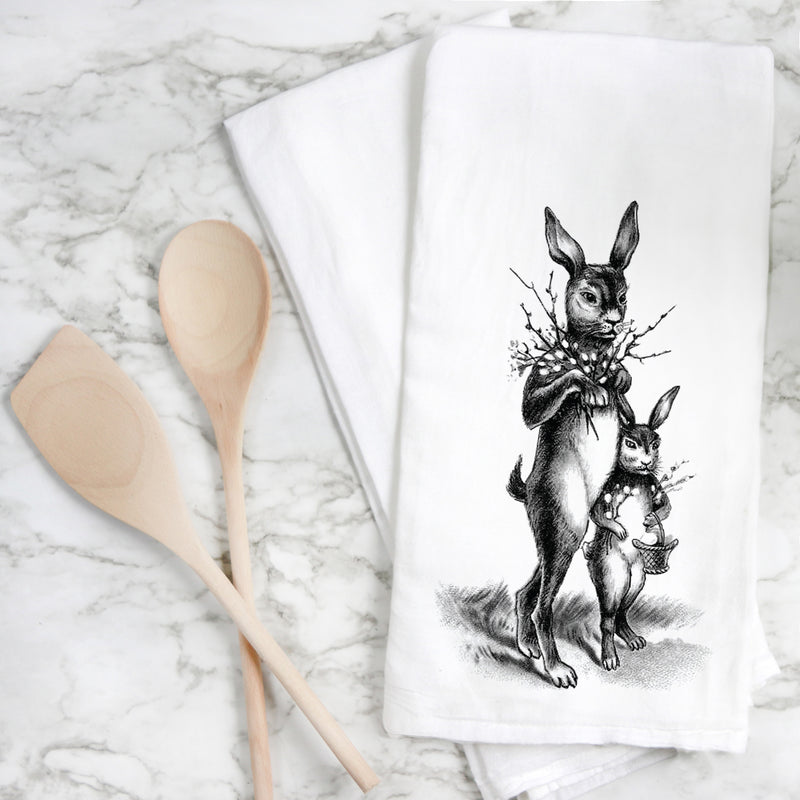 Vintage Bunnies Tea Towel