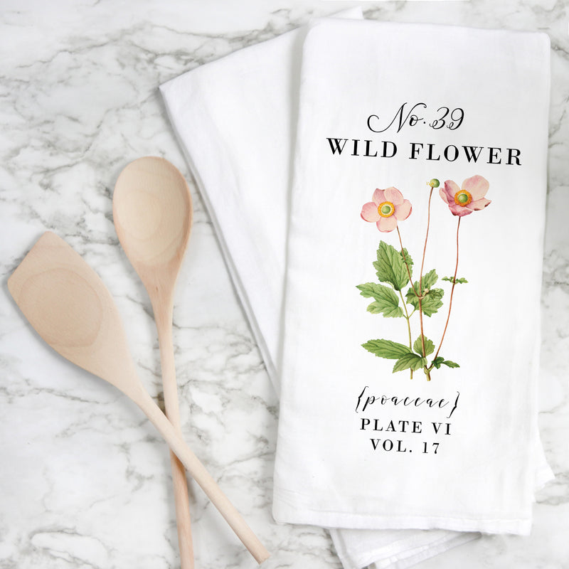Botanical Wild Flower Tea Towel