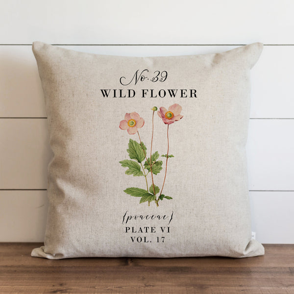 Botanical Wild Flower Pillow Cover. - Porter Lane Home