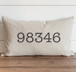 Custom Zip Code Pillow Cover. - Porter Lane Home