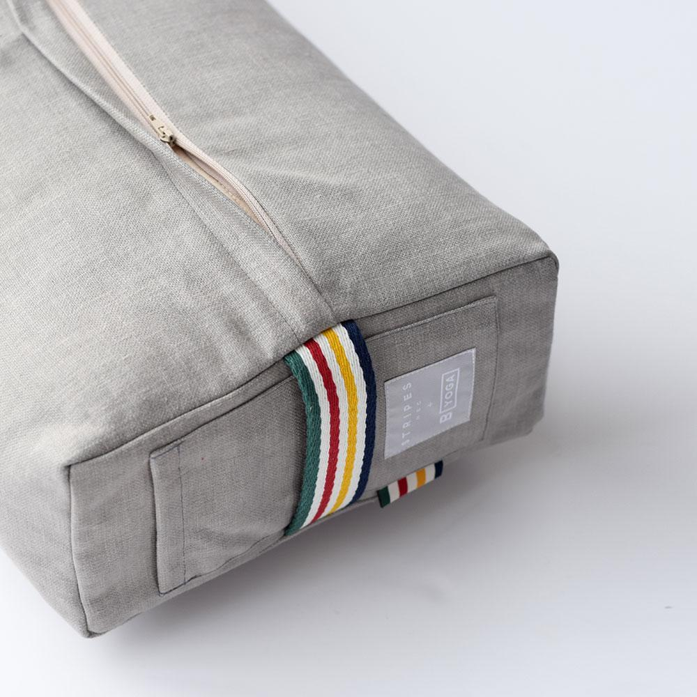 HBC x B YOGA - Rectangular Bolster - Shadow + HBC Stripes