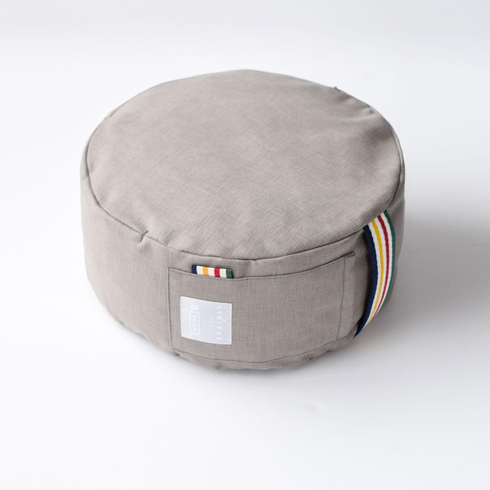 HBC x B YOGA - Meditation Cushion - Shadow + HBC Stripes