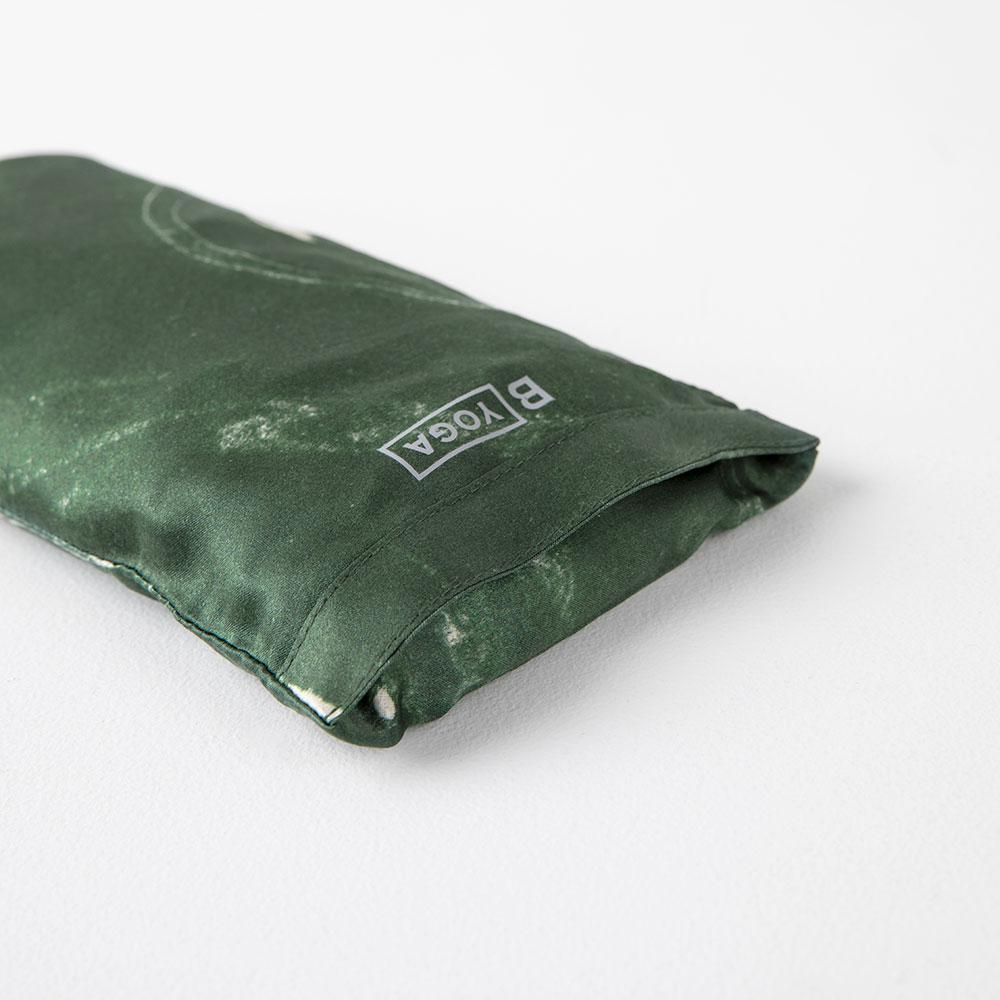 The Silk Eye Pillow - Marbled Emerald