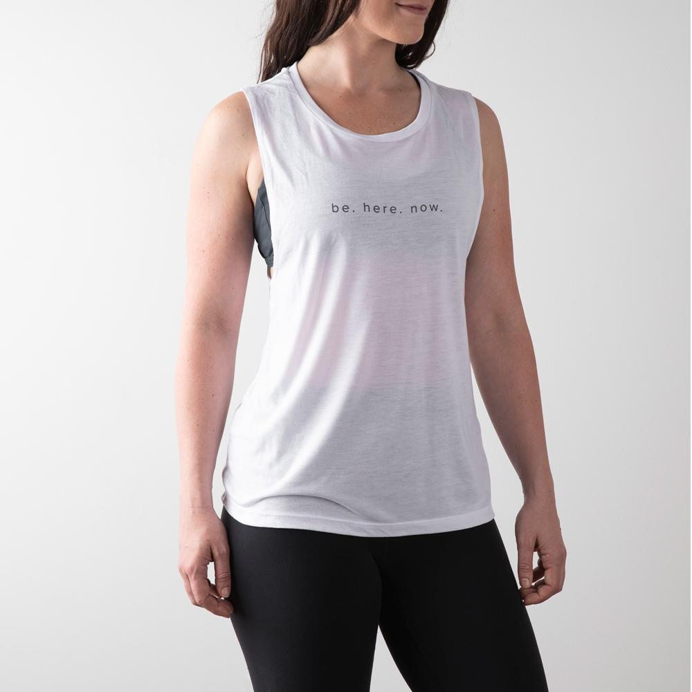 Be Here Now Tank- White