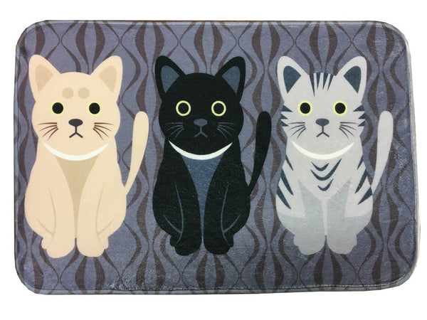 FREE - Cute Cat Print Welcome Floor Mats