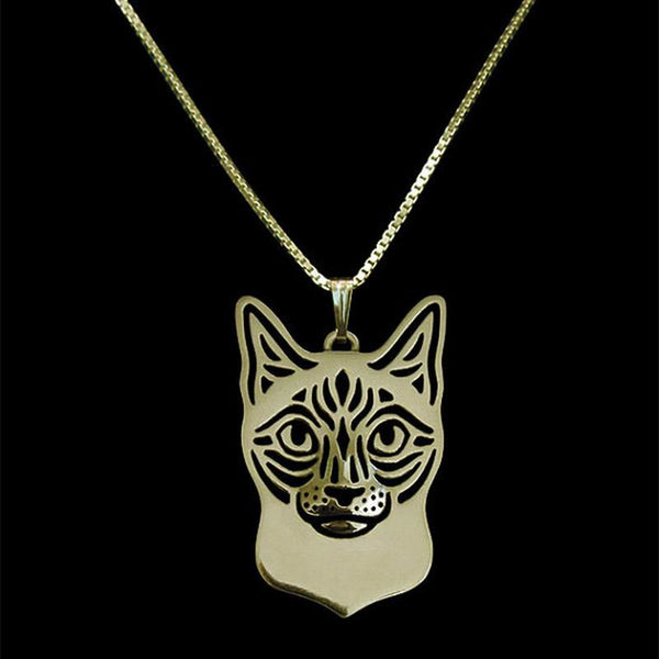 Siamese Cat Necklace in Silver or Gold – FREE Shipping