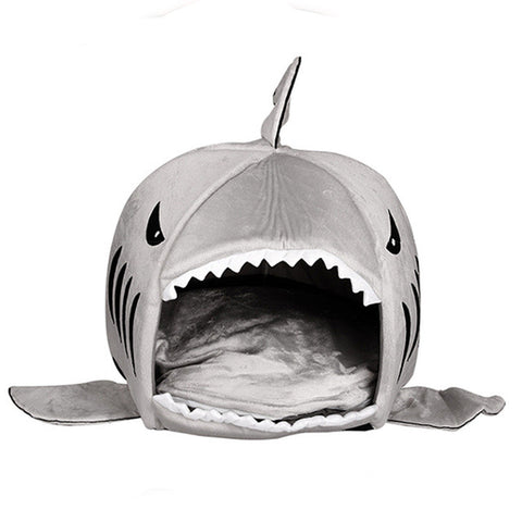 Cushioned Shark Pet Bed - FREE Shipping