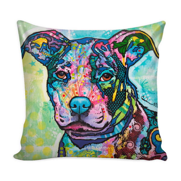 Dean Russo's Pit Bull Series Pillow Covers - FREE Shipping