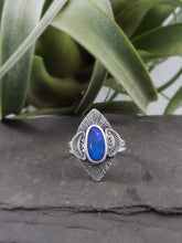 Black Opal Statement Ring