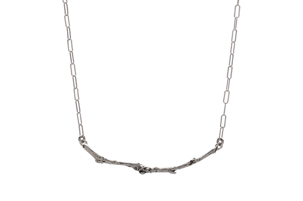 Branch Bar Necklace   Sterling Silver or Bronze & 14k Gold Filled