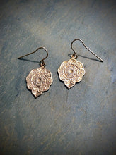 Mandala Drop Earrings    Sterling Silver or Bronze & 14K Gold Filled