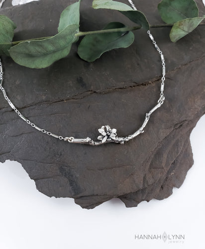 Cherry Blossom Bar Necklace