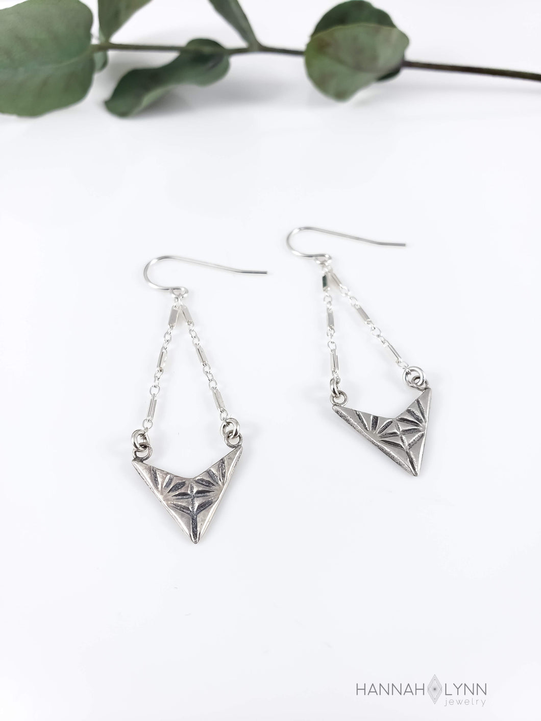 Geometric Chevron Chandelier Earrings