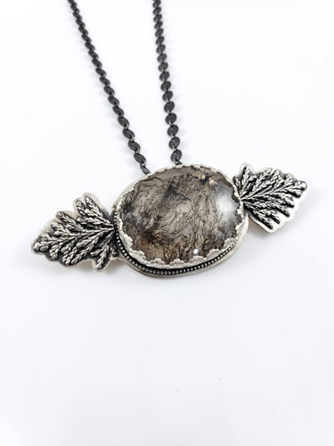 Dendritic Quartz Evergreen Statement Necklace