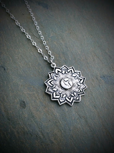 Disco Biscuits Floral Mandala Necklace