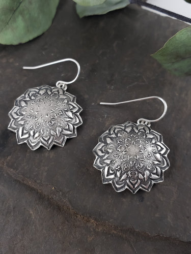 Domed Mandala Earrings