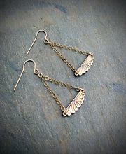 Fan Chandelier Earrings   Sterling Silver or Bronze & 14k Gold Filled