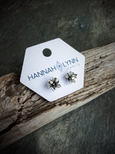 Floral Blossom Stud Earrings  // Sterling Silver or Bronze