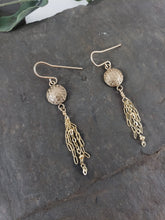 Flower of Life Tassel Earrings Available in Sterling Silver or Bronze & 14K Gold Filled