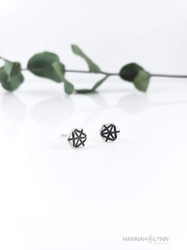 Geometric Merkaba Stud Earrings