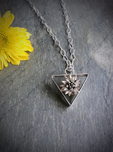 Geometric Potted Succulent Necklace