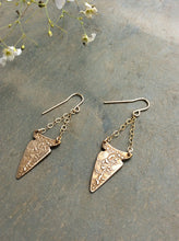 Artisan Gold Arrowhead Chandelier Earrings