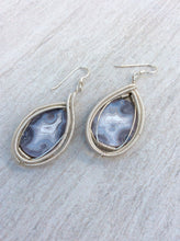 Wire Wrapped Botswana Agate Earrings