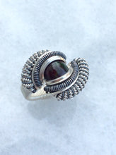 Black Opal Wire Wrapped Ring