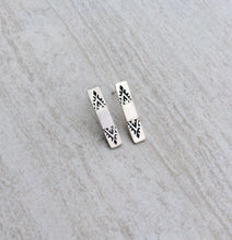 Minimalist Aztec Bar Stud Earrings