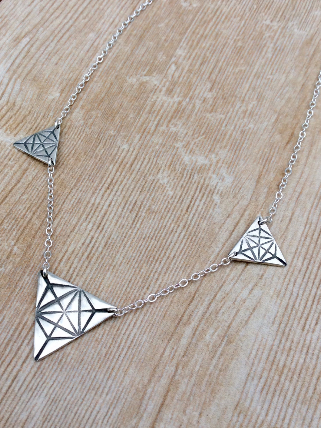 Large Triple Triangle Merkaba Necklace