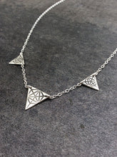 Triple Merkaba Triangle Necklace - Medium