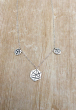 Triple Hexagon Sacred Geometry Merkaba Necklace