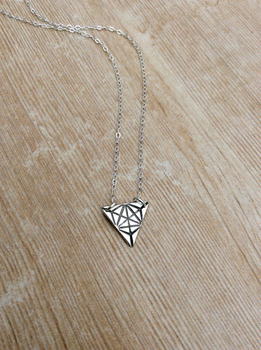 Sacred Geometry Triangle Merkaba Necklace