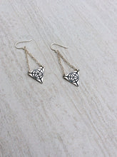 Sacred Geometry Triangle Merkaba Earrings Sterling Silver or Bronze & 14k Gold Filled