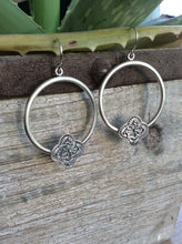Aztec Tribal Stamped Hoop Earrings