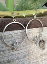 Aztec Diamond Hoop Earrings