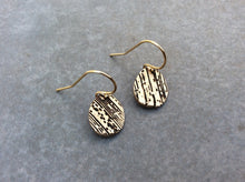 Wood Grain Drop Earrings