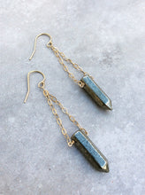 Pyrite Bullet Chandelier Earrings