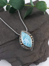 """Balance"" Larimar Mixed Metal Talisman Necklace"