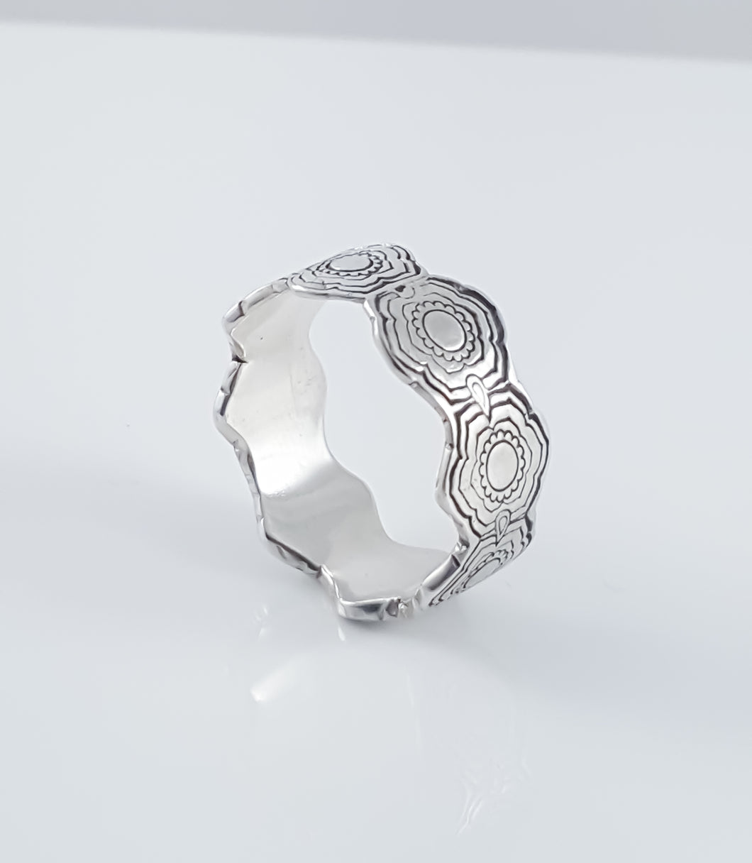 Lotus Flower Band Ring